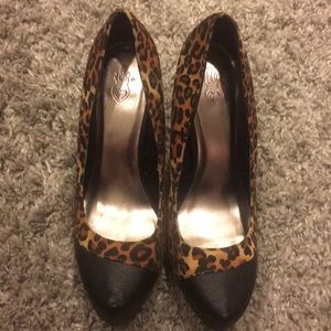 Leopard/Leather Torrid Heel
